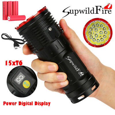 Super Bright 50000LM XML-T6 LED 18650 Outdoor Rechargeable Flashligt Torch