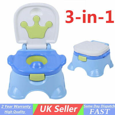 Baby Kids Children Toddler Potty Toilet Training Trainer Musical 2 in 1 Seat NEW