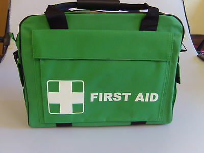 Green First Aid Heavy Duty Medical Equipment Bag Empty Or With 120 Piece Kit