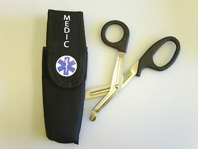 Star of Life Paramedic Tuff Cut Scissors With Black Cordura Belt Pouch & Gloves