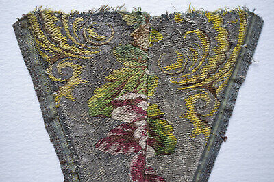 Small fragment 18th c  lampas silk  - Hamot archive collection