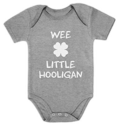 6017ca9d6 Wee Little Hooligan Irish Funny St. Patrick's Day Baby Bodysuit Gift Idea