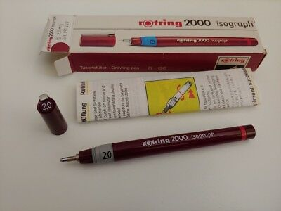 rotring 2000 isograph technical drawing pen 2.0mm nos +box penna a china