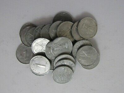 Lot of 25 Old East Germany 1952 A 1 Pfennig Coins - Circulated