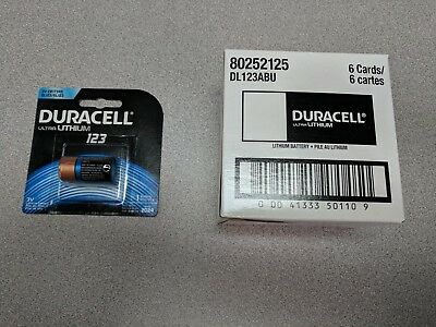 4 X Duracell DL123 Lithium 3 Volt Batteries - FREE SHIPPING