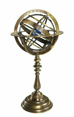 G340: Bronze Armillary Sphere, Baroque World Machine, Antique Universe