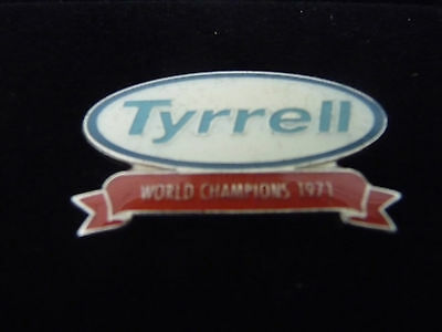 "1 Pins ""tyrell World Champions 1971"" Neuf"