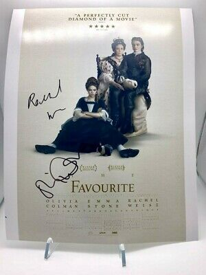 THE FAVOURITE Signed 11X14 Photo Olivia Coleman Rachel Weisz AFTAL OnlineCOA