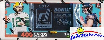 2017 Donruss Football MASSIVE EXCLUSIVE 401 Card Factory Set-RC THREAD JERSEY !