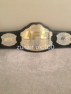 UFC Ultimate Fighting Champions Replica Leather Belt /With Free Carry Case