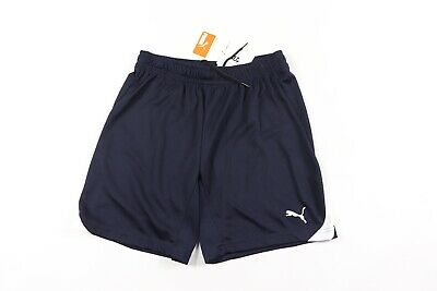 127349eef9ae New Puma Mens Small Athletic Running Jogging Soccer Shorts Navy Blue White