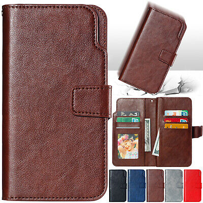 For Samsung Galaxy Note 9 S9 S8 Magnet Leather Flip Wallet Card Phone Case Cover