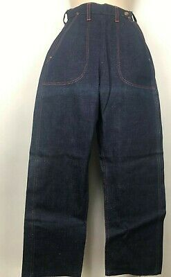 Vintage 40s 50s Jeanies by Blue Bell  Side-Zip  Jeans Girls Size 12  Deadstock