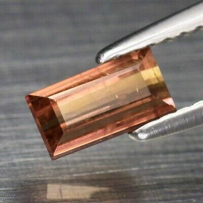 0.76ct 6.5x3.6mm Baguette Natural Unheated Yellowish Pink Tourmaline, Mozambique
