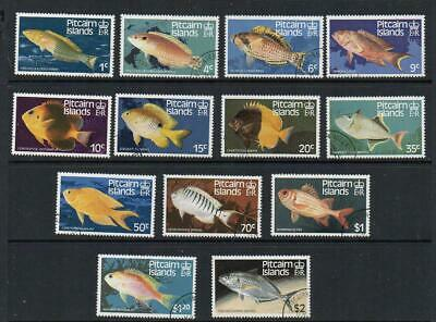 PITCAIRN ISLANDS  Set  of 13 Fish Very Fine Used Excellent Quality  No Faults