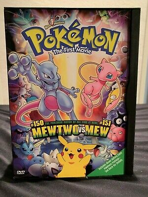 Pokemon The First Movie Mewtwo Strikes Back Dvd 2000 Used