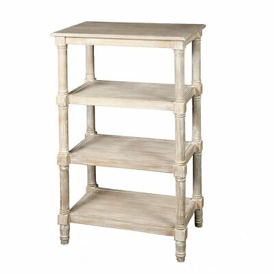 G1232: Rustic Shelf Rack in Country House Style, Retro 4 Soils Shabby White