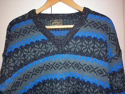 VINTAGE LARGE 1980s  COBALT JUMPER EXCELLENT CONDITION