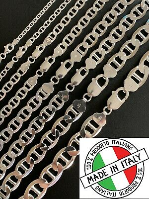 Gucci Link Chain Ebay >> Real Solid 925 Sterling Silver Mariner Gucci Link Chain Or Bracelet Italy