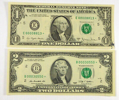 1977A And 2009 $2 STAR Notes (Low Serial Numbers)