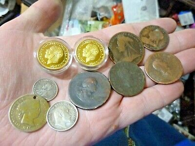 House Clearance Job Lot  Collectables Old Silver And Copper  Coins Etc