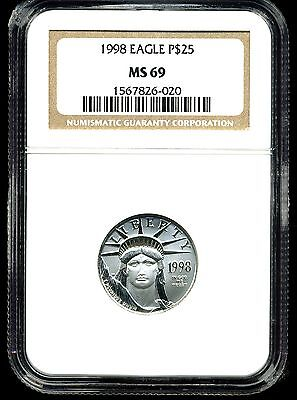 1998 P$25 Platinum American Eagle MS69 NGC 1567826-020