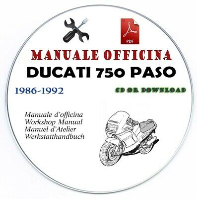 Manuale Officina Ducati 750 Paso Workshop Manual Manuel D' Atelier Service