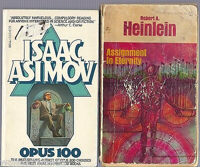 OPUS 100 by Asimov 1980 + Assignment in Eternity by Heinlein 1953 1st/19th+PICS