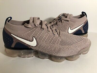 Nike Air Vapormax Flyknit 2 Running Shoes Diffused Taupe Blue SZ 11 942842-201