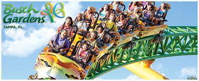 2 Adults Busch Gardens Tampa Tickets - $29 Ea(Must complete a timeshare tour)