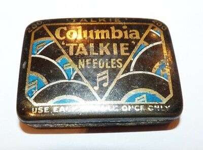 Gramophone Needles Tin Complete, Columbia Talkie Contents in Very Good Condition