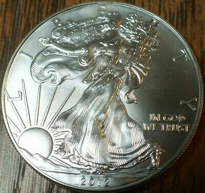 2012 1oz Silver American Eagle BU Uncirculated ASE CB1