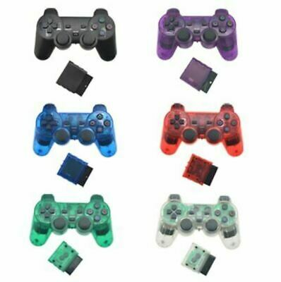 2x For Sony PS2 2.4G Wireless Twin Shock Game Controller Joystick Joypad Colors