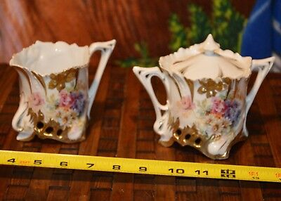 RS Prussia reticulated base Creamer and free sugar