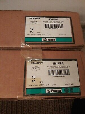 LOT Box 10 Panduit JB1IW-A Pan-Way One Piece shallow Low Voltage Junction Boxes