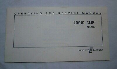 HP 10528A Logic Clip Operating and Service Manual 1974 10528-90008 Hewlett Packa