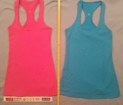 19fd40b327854 Lot 2 Lululemon Girls Womens Racer Back Tank Tops Stitch