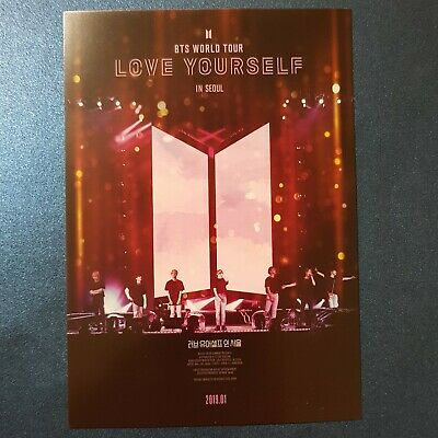 BTS 'Love Yourself in Seoul' Movie CGV Limited Postcard Kpop
