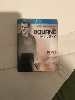 The Bourne Trilogy (Blu-ray, 2010, 3-Disc Set) - BRAND NEW! FACTORY SEALED!