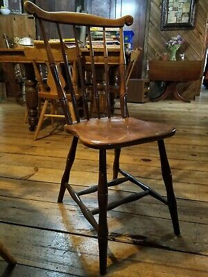 Antique Bamboo Turned Windsor Side Chair