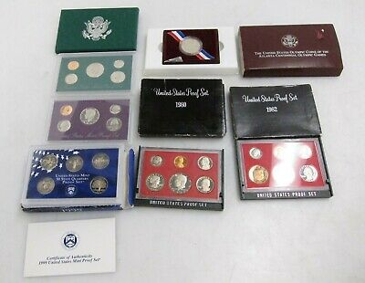 Mixed Lot of 6 United States Mint USA Coin Proof Sets