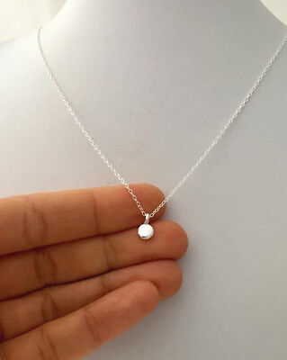 97% sterling silver polka tiny dot pendant with chain necklace