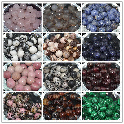 Wholesale Natural Gemstone Stone Round Loose Spacer Beads 4mm 6mm 8mm 10mm HOT