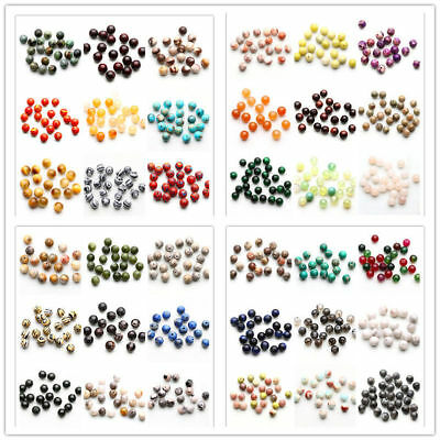 Wholesale Natural Gemstone Round Spacer Loose Beads 4MM 6MM 8MM 10MM Jewelry DIY