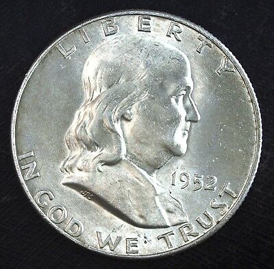 1952 D Franklin Silver Half Dollar ☆☆ UnCirculated ☆☆ Great Book Filler