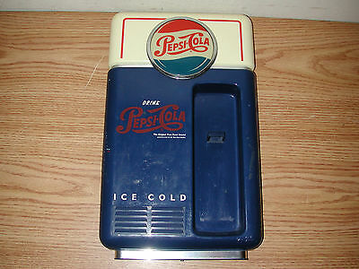 "Vintage 8"" X 14"" Pepsi-Cola Plastic Wall Mounted Vending Machine Telephone Body"