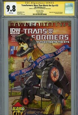 """TRANSFORMERS #33 IDW Authentic Hand-Signed GREGG BERGER """"GRIMLOCK"""" (CGC SS 9.8)"""