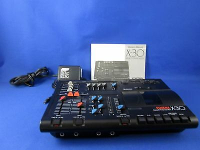 FOSTEX X30 MULTITRACK Recorder, Power Supply & Manual for Parts or Repair