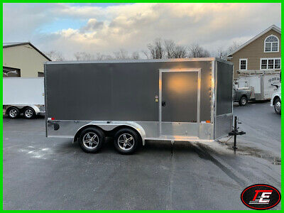 14' United V-Nose Enclosed Motorcycle Trailer w/ Cabinet Pkg