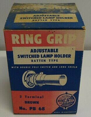 Vintage Bakelite Ring Grip Lamp Light Holder